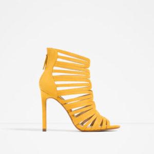 gul ankelhög sko